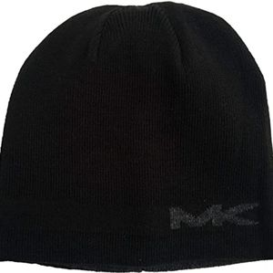 Michael Kors black/gray reversible beanie …